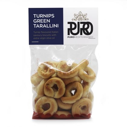 PURO Turnips Green Tarallini savoury biscuits