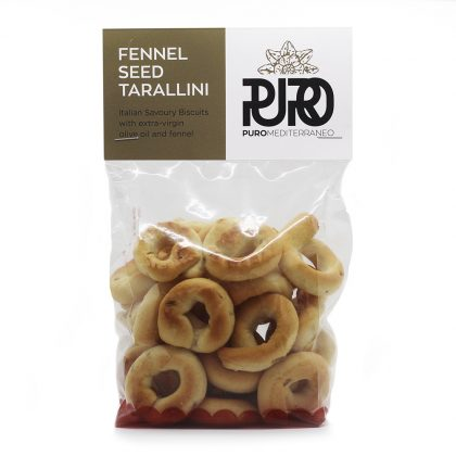 PURO Fennel Seed Tarallini savoury biscuits